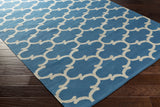 Artistic Weavers Vogue Lola Royal Blue/Ivory Area Rug Corner Shot