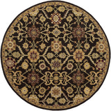 Artistic Weavers Middleton Jenna Chocolate Brown/Burgundy Area Rug Round