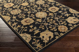 Artistic Weavers Middleton Allison Onyx Black/Gold Area Rug Corner Shot