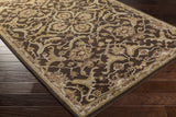Artistic Weavers Middleton Ava Chocolate Brown/Sage Green Area Rug Corner Shot