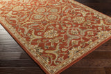 Artistic Weavers Middleton Ava Dark Orange/Light Yellow Area Rug Corner Shot