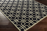 Artistic Weavers Transit Madison Onyx Black/Beige Area Rug Corner Shot