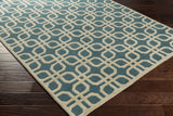 Artistic Weavers Transit Madison Teal/Ivory Area Rug Corner Shot