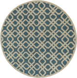 Artistic Weavers Transit Madison Teal/Ivory Area Rug Round
