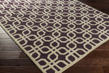 Artistic Weavers Transit Madison Plum/Beige Area Rug Corner Shot