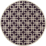 Artistic Weavers Transit Madison Plum/Beige Area Rug Round