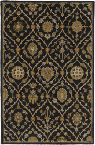 Artistic Weavers Middleton Alexandra Onyx Black/Gold Area Rug main image