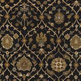 Artistic Weavers Middleton Alexandra Onyx Black/Gold Area Rug Swatch