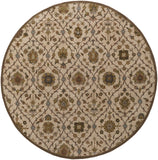 Artistic Weavers Middleton Alexandra Ivory/Olive Green Area Rug Round