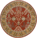 Artistic Weavers Middleton Kelly Crimson Red/Gold Area Rug Round