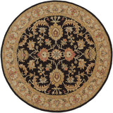 Artistic Weavers Middleton Virginia Onyx Black/Tan Area Rug Round