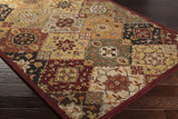 Artistic Weavers Buckingham Sophia Burgundy/Terra Cotta Area Rug Corner Shot