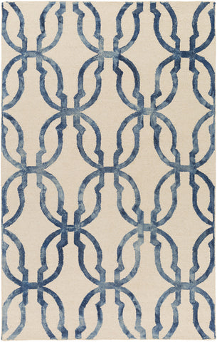Artistic Weavers Organic Julia Navy Blue/Ivory Area Rug main image