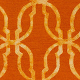 Artistic Weavers Organic Julia Bright Orange/Tangerine Area Rug Swatch