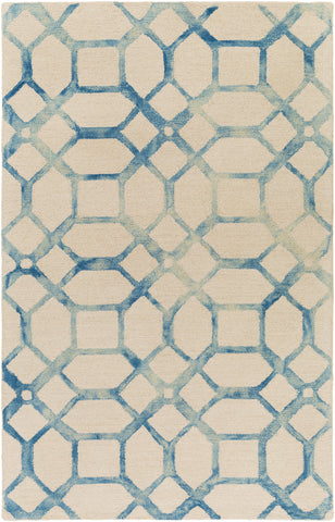 Artistic Weavers Organic Brittany Turquoise/Ivory Area Rug main image