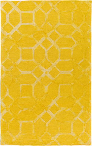 Artistic Weavers Organic Brittany Bright Yellow/Light Yellow Area Rug main image
