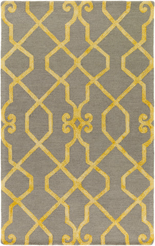 Artistic Weavers Organic Amanda Bright Yellow/Gray Area Rug main image