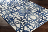 Artistic Weavers Organic Avery Navy Blue/Ivory Area Rug Corner Shot