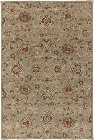 Artistic Weavers Origin Abigail Taupe/Crimson Red Area Rug main image