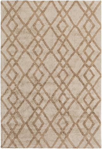 Artistic Weavers Silk Valley Lila Taupe/Tan Area Rug main image