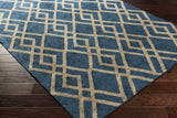 Artistic Weavers Silk Valley Lila Turquoise/Taupe Area Rug Corner Shot