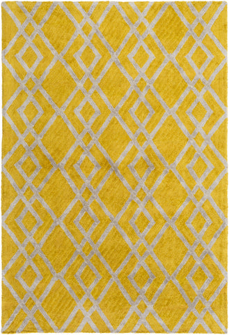 Artistic Weavers Silk Valley Lila Bright Yellow/Light Gray Area Rug main image