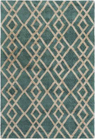 Artistic Weavers Silk Valley Lila Kelly Green/Beige Area Rug main image