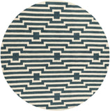Artistic Weavers Transit Sawyer Teal/Ivory Area Rug Round