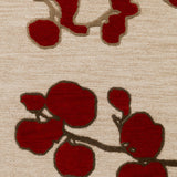 Artistic Weavers Venus Scarlett Crimson Red/Beige Area Rug Swatch