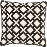 Surya Alexandria Diamond and Cross Velvet AX-003 Pillow 20 X 20 X 5 Down filled
