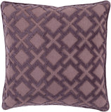 Surya Alexandria Diamond and Cross Velvet AX-004 Pillow 18 X 18 X 4 Poly filled