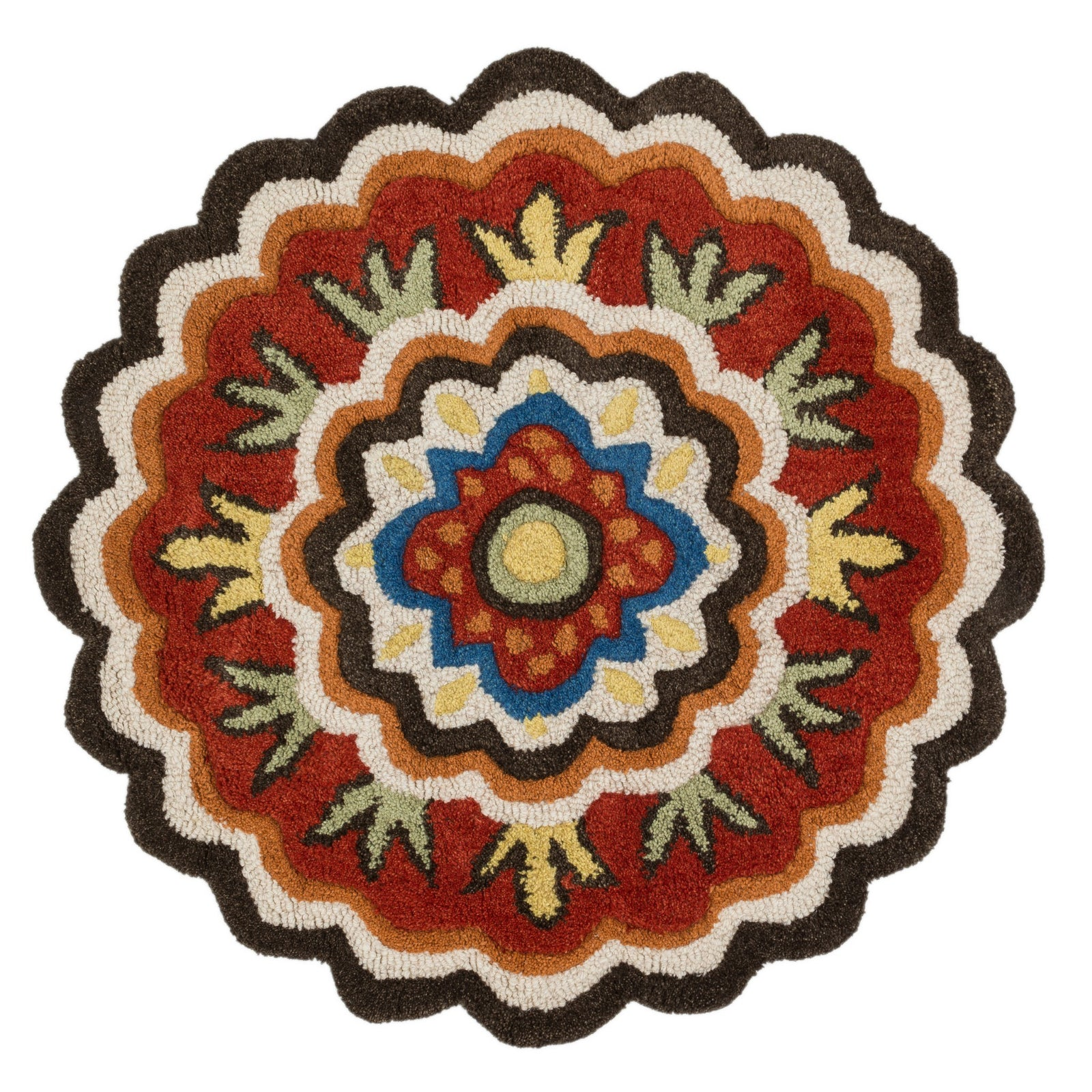 Loloi Azalea AZ-02 Dark Brown / Red Area Rug main image