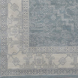 Surya Bala BAA-5000 Teal Hand Knotted Area Rug Sample Swatch