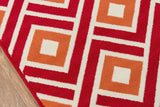 Momeni Baja BAJ-7 Red Area Rug Closeup