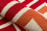 Momeni Baja BAJ-7 Red Area Rug Detail Shot