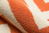 Momeni Baja BAJ-9 Orange Area Rug Detail Shot
