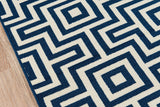 Momeni Baja BAJ10 Navy Area Rug Close Up