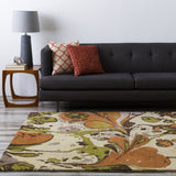 Surya Banshee BAN-3314 Burnt Orange Hand Tufted Area Rug Roomscene