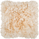 Surya Prom Ruffles and Rouching BB-032 Pillow 22 X 22 X 5 Poly filled