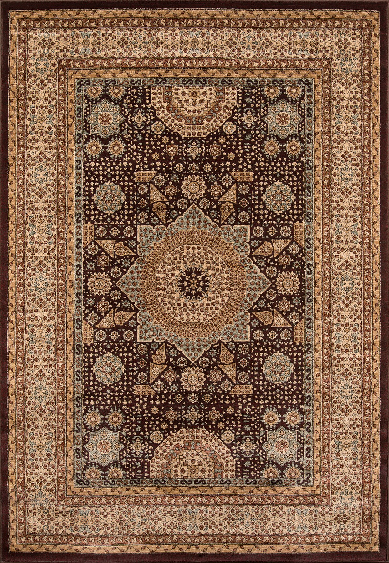 Momeni Belmont BE-03 Brown Area Rug main image