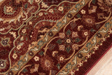 Momeni Belmont BE-05 Red Area Rug Closeup