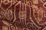Momeni Belmont BE-07 Red Area Rug Detail Shot