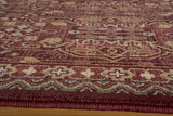 Momeni Belmont BE-07 Red Area Rug Closeup