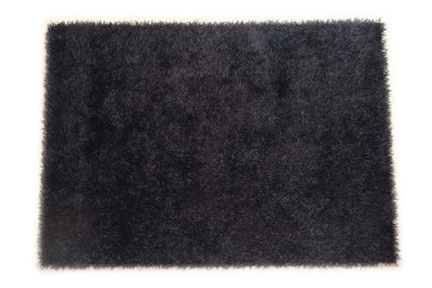 JazzyFloors Bella Solid Black Area Rug