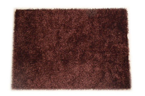 JazzyFloors Bella Solid Chocolate Brown Area Rug