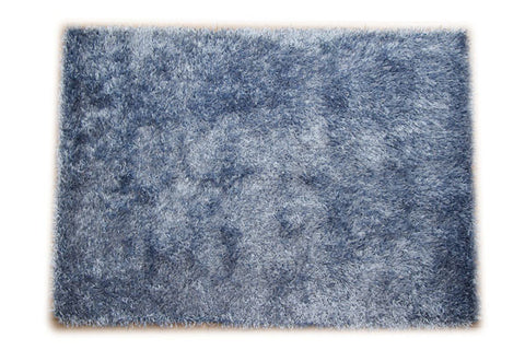 JazzyFloors Bella Solid Light Blue Area Rug
