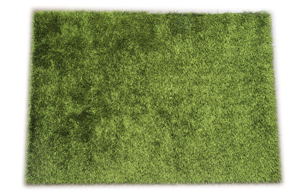JazzyFloors Bella Solid Lime Green Area Rug
