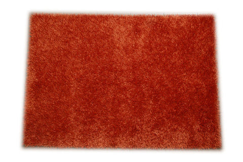 JazzyFloors Bella Solid Orange Area Rug
