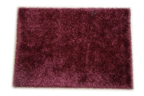 JazzyFloors Bella Solid Purple Area Rug