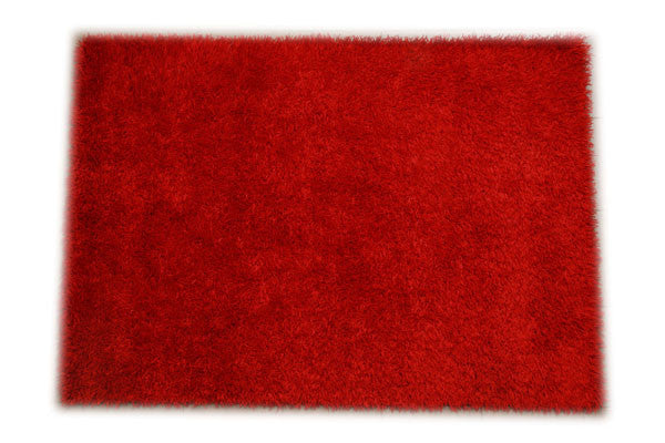 JazzyFloors Bella Solid Red Area Rug